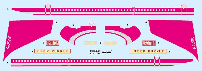 ボーイング 720 スターシップワンプラモデル(ローデン1/144 エアクラフトNo.314)商品画像_1