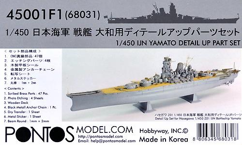 日本海軍 戦艦 大和用 ディテールアップパーツセットエッチング(ポントスモデル1/450 ディテールアップセットNo.45001F1)商品画像
