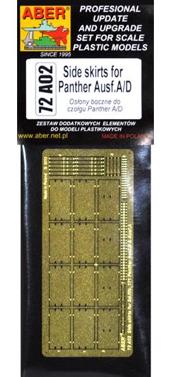 ドイツ パンター A/D型用 サイドスカートエッチング(アベール1/72 AFV用 エッチングパーツNo.72A002)商品画像