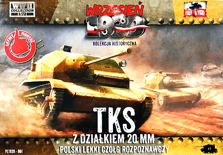 ポーランド TKS 小型戦車 20mm砲搭載型プラモデル(FTF1/72 AFVNo.PL1939-001)商品画像
