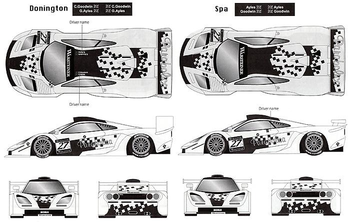 マクラーレン F1-GTR Parabolica #27 FIA-GT 1997デカール(タブデザイン1/24 デカールNo.TABU-24041)商品画像_3