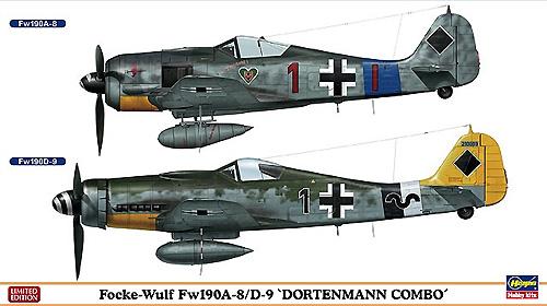 フォッケウルフ Fw190A-8/D-9 ドルテンマン コンボプラモデル(ハセガワ1/72 飛行機 限定生産No.02078)商品画像