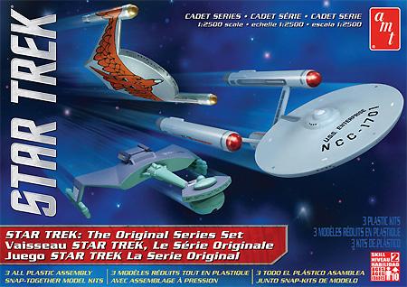 スタートレック 宇宙大作戦 3艦セットプラモデル(amtスタートレック(STAR TREK)シリーズNo.AMT763L/12)商品画像