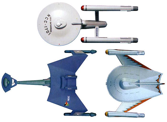 スタートレック 宇宙大作戦 3艦セットプラモデル(amtスタートレック(STAR TREK)シリーズNo.AMT763L/12)商品画像_3