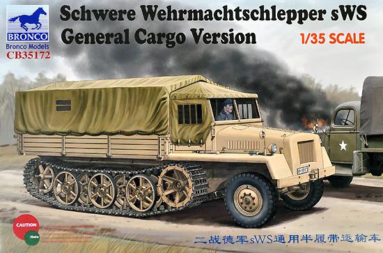 ドイツ sWS ハーフトラック 牽引車 カーゴタイププラモデル(ブロンコモデル1/35 AFVモデルNo.CB35172)商品画像