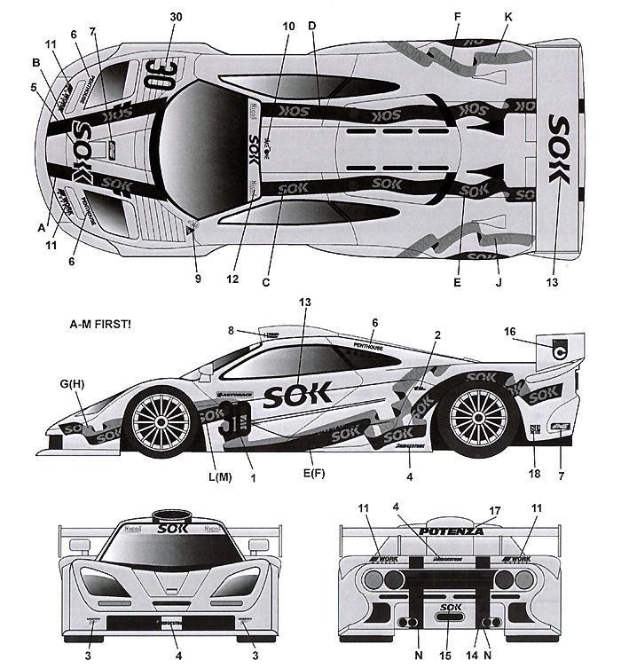 マクラーレン F1-GTR SOK #30 JGTC 2000デカール(タブデザイン1/24 デカールNo.TABU-24055)商品画像_2