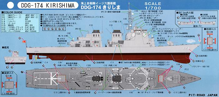 海上自衛隊 イージス護衛艦 DDG-174 きりしまプラモデル(ピットロード1/700 スカイウェーブ J シリーズNo.J-063)商品画像_1