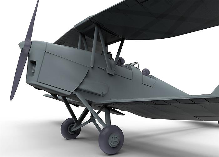 デハビラント DH.82a タイガーモス G-ACDD 2013プラモデル(エアフィックス1/72 ミリタリーエアクラフトNo.A01024)商品画像_2