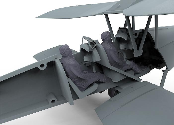 デハビラント DH.82a タイガーモス G-ACDD 2013プラモデル(エアフィックス1/72 ミリタリーエアクラフトNo.A01024)商品画像_3