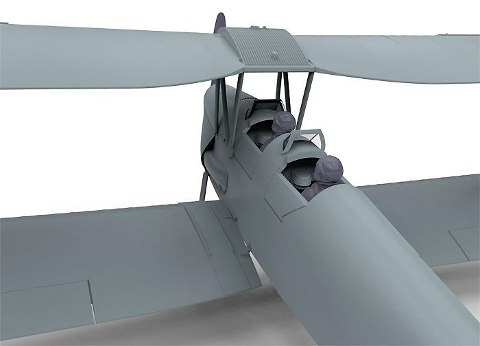 デハビラント DH.82a タイガーモス G-ACDD 2013プラモデル(エアフィックス1/72 ミリタリーエアクラフトNo.A01024)商品画像_4