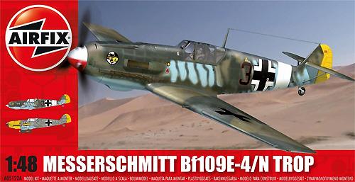 メッサーシュミット Bf109E-4/N Tropプラモデル(エアフィックス1/48 ミリタリーエアクラフトNo.A05122A)商品画像