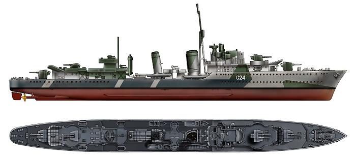 カナダ海軍 駆逐艦 HMCS ヒューロン 1944プラモデル(ピットロード1/700 スカイウェーブ W シリーズNo.W159)商品画像_1