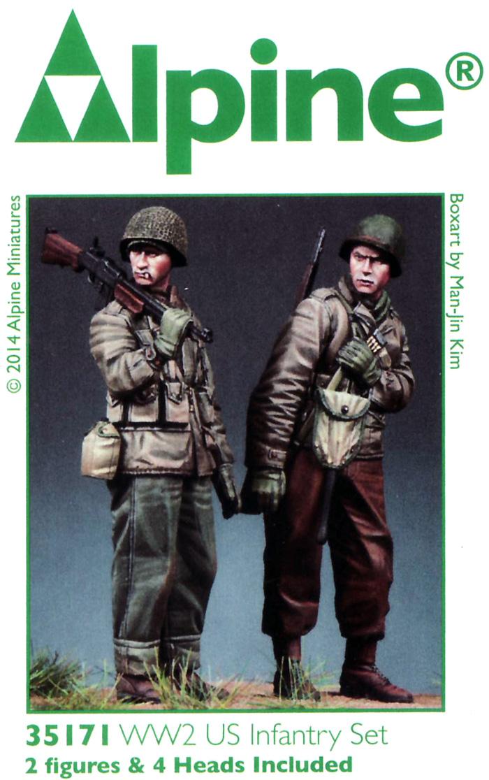 WW2 アメリカ軍 BAR & 歩兵 (2体セット)レジン(アルパイン1/35 フィギュアNo.AM35171)商品画像_2