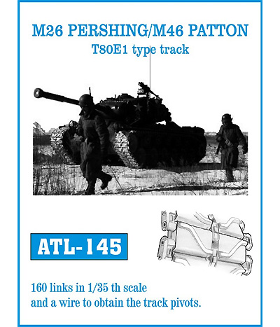 M26パーシング/M46パットン T80E1 全鋼製履帯メタル(フリウルモデル1/35 金属製可動履帯シリーズNo.ATL145)商品画像