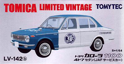 トヨタ カローラ 1100 4ドア セダン (JAFサービスカー)ミニカー(トミーテックトミカリミテッド ヴィンテージNo.LV-142b)商品画像