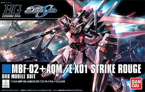 MBF-02+AQM/E-X01 ストライクルージュプラモデル(バンダイHGCE ハイグレード コズミック・イラNo.176)商品画像