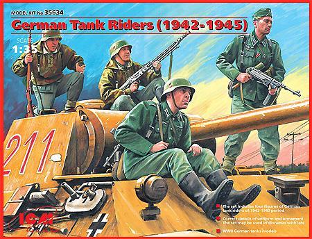 ドイツ 戦車搭乗兵 (1942-1945)プラモデル(ICM1/35 ミリタリービークル・フィギュアNo.35634)商品画像