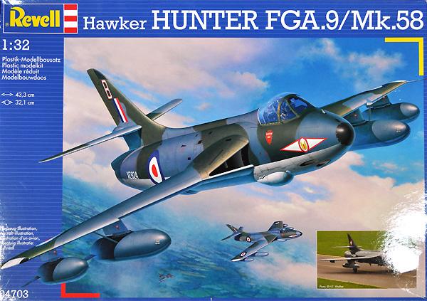 ホーカー ハンター FGA.9 / Mk.58プラモデル(レベル1/32 AircraftNo.04703)商品画像