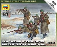 ズベズダART OF TACTICソビエト歩兵セット 1941-1942 (冬季服)