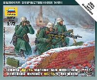 ズベズダART OF TACTICドイツ MG34 マシンガンクルーセット 1941-1945 (冬季服)