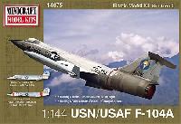 ミニクラフト1/144 軍用機プラスチックモデルキットアメリカ空軍/海軍 F-104A