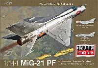 ミニクラフト1/144 軍用機プラスチックモデルキットMiG-21PF フィッシュベッド