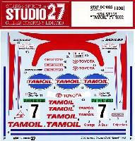 スタジオ27ラリーカー オリジナルデカールトヨタ セリカ ST165 TAMOIL #7 1992