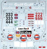 タブデザイン1/24 デカールマクラーレン F1-GTR Gulf #33/34 ル・マン / #2/6 鈴鹿 1996