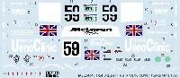 タブデザイン1/24 デカールマクラーレン F1-GTR UENO-CLINIC #59 ルマン 1995