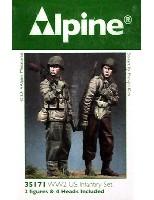 アルパイン1/35 フィギュアWW2 アメリカ軍 BAR & 歩兵 (2体セット)