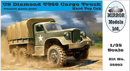 ダイアモンド T968 カーゴトラック ハードトップキャッププラモデル(ミラーモデルズ1/35 AFVモデルNo.35803)商品画像