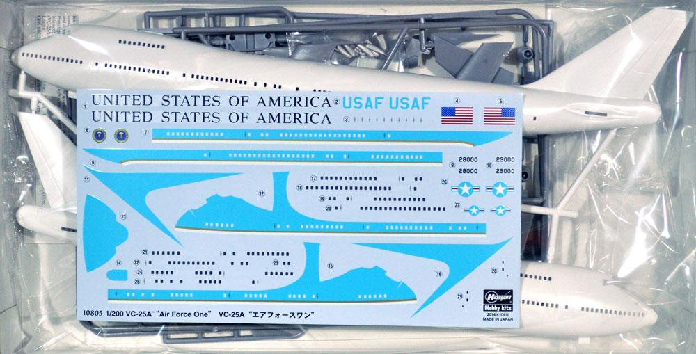VC-25A エアフォースワンプラモデル(ハセガワ1/200 飛行機 限定生産No.10805)商品画像_1