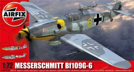 メッサーシュミット Bf109G-6プラモデル(エアフィックス1/72 ミリタリーエアクラフトNo.A02029A)商品画像