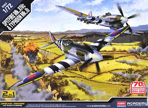 スピットファイア Mk.14c & タイフーン 1b ノルマンディー上陸作戦 70周年セットプラモデル(アカデミー1/72 Scale AircraftsNo.12512)商品画像