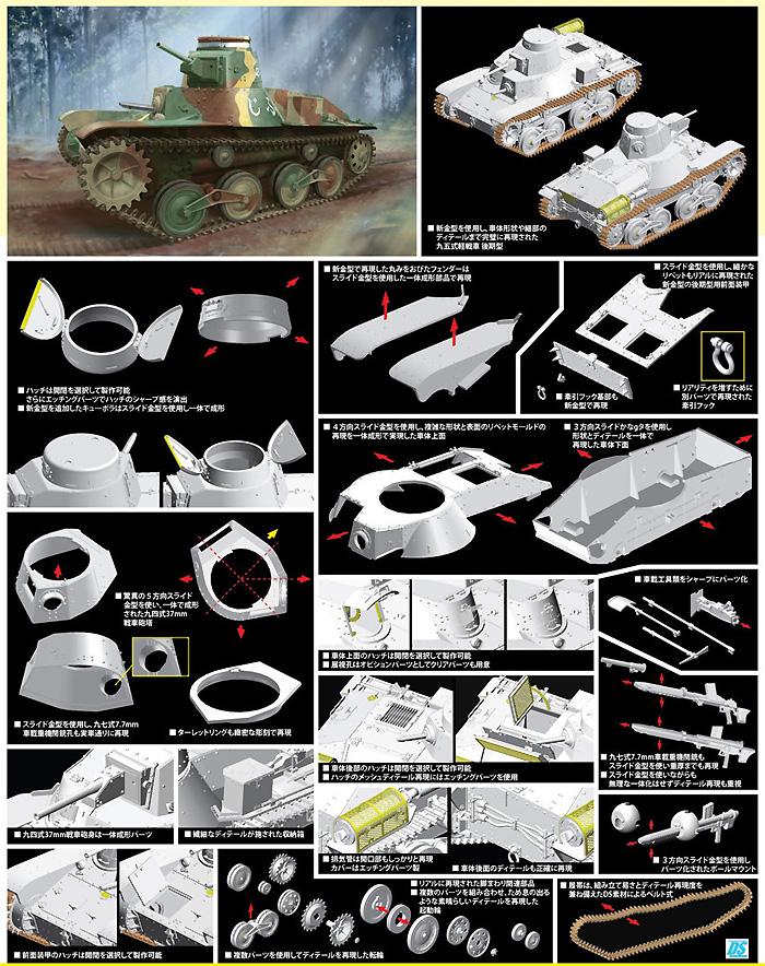 日本帝国陸軍 九五式軽戦車ハ号 (後期型)プラモデル(サイバーホビー1/35 AFV シリーズ ('39~'45 シリーズ)No.6770)商品画像_2
