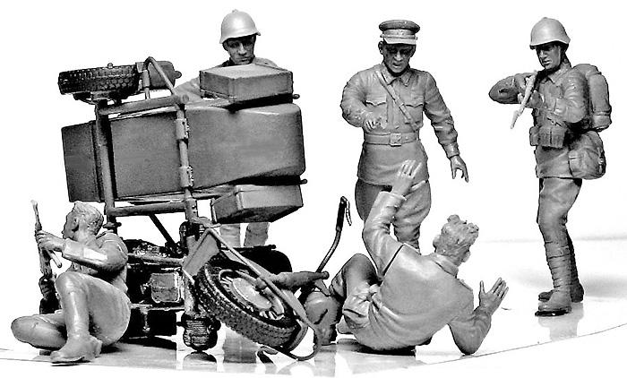 独ソ・アクシデント - 事故遭遇プラモデル(マスターボックス1/35 ミリタリーミニチュアNo.MB3590)商品画像_4