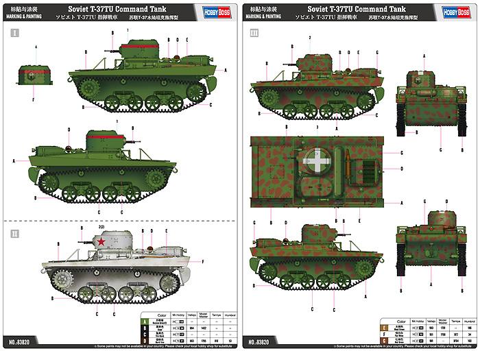 ソビエト T-37TU 指揮戦車プラモデル(ホビーボス1/35 ファイティングビークル シリーズNo.83820)商品画像_1