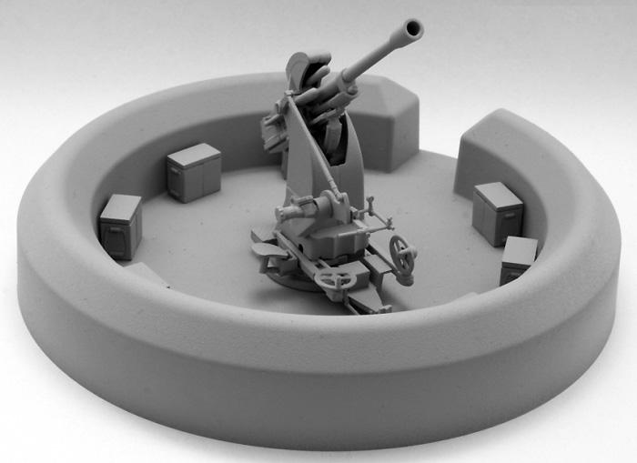 ブレダ 37/54 37mm対空砲 + コンクリートブンカープラモデル(IBG1/35 AFVモデルNo.35009)商品画像_2