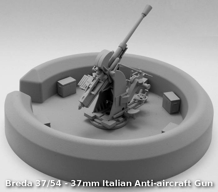 ブレダ 37/54 37mm対空砲 + コンクリートブンカープラモデル(IBG1/35 AFVモデルNo.35009)商品画像_3