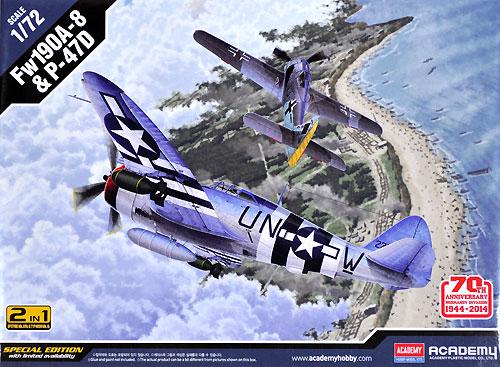 Fw190A-8 & P-47D ノルマンディー上陸作戦 70周年セットプラモデル(アカデミー1/72 Scale AircraftsNo.12513)商品画像