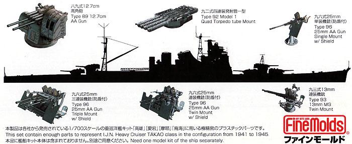 高雄型重巡洋艦セット (高雄/愛宕/摩耶/鳥海)プラモデル(ファインモールド1/700 ナノ・ドレッド シリーズNo.77915)商品画像_1