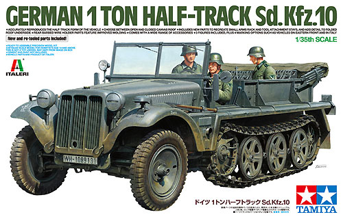 ドイツ 1トン ハーフトラック Sd.kfz.10プラモデル(タミヤタミヤ イタレリ シリーズNo.37016)商品画像