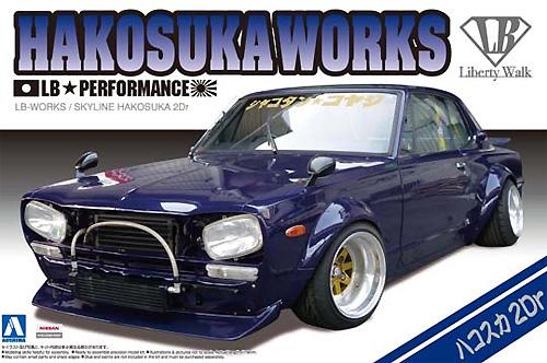 LBワークス ハコスカ 2Drプラモデル(アオシマ1/24 リバティーウォークNo.004)商品画像