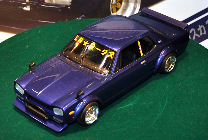 LBワークス ハコスカ 2Drプラモデル(アオシマ1/24 リバティーウォークNo.004)商品画像_2