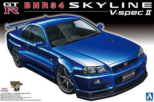 BNR34 スカイライン GT-R V‐spec2プラモデル(アオシマ1/24 ザ・ベストカーGTNo.008)商品画像