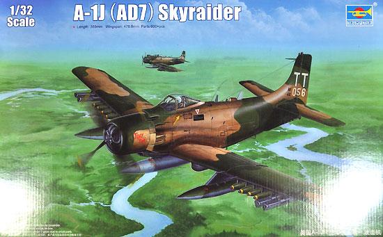 A-1J (AD7) スカイレーダープラモデル(トランペッター1/32 エアクラフトシリーズNo.02254)商品画像