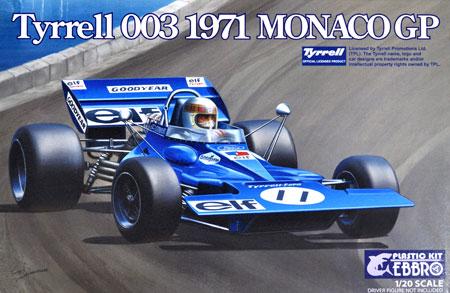 ティレル 003 モナコGP 1971プラモデル(エブロ1/20 MASTER SERIES F-1No.007)商品画像
