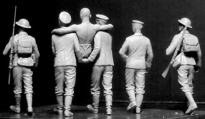 WW1 イギリス兵 & ドイツ兵 負傷兵搬送 ソンム戦 1916年プラモデル(マスターボックス1/35 ミリタリーミニチュアNo.MB35158)商品画像_3