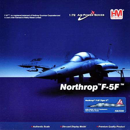 F-5F タイガー 2 VFC-111 サンダウナーズ完成品(ホビーマスター1/72 エアパワー シリーズ (ジェット)No.HA3350)商品画像