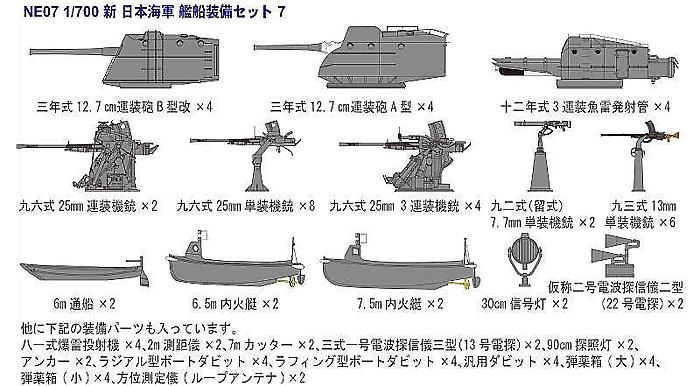 日本海軍 特型 (吹雪型) 駆逐艦 朧プラモデル(ピットロード1/700 スカイウェーブ W シリーズNo.SPW028)商品画像_2